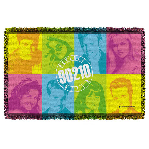 Beverly Hills 90210 Color Blocks Woven Tapestry Throw Blanket