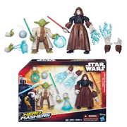 Star Wars Hero Mashers Yoda vs. Emperor Palpatine Action Figures, Not Mint