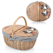 Mickey and Minnie Mouse Navy and White Stripes Country Picnic Basket
