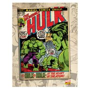 Hulk vs Hulk Comic Cover Canvas Print
