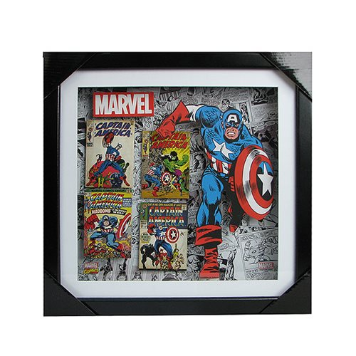 Captain America Wood Shadow Box