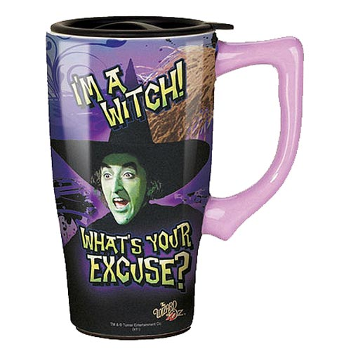 The Wizard of Oz Wicked Witch 18 oz. Ceramic Travel Mug with Handle