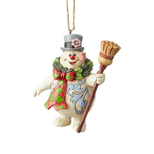 Frosty the Snowman With Wreath by Jim Shore Ornament