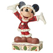 Disney Traditions Mickey Christmas Personality Tis a Splendid Season by Jim Shore Statue