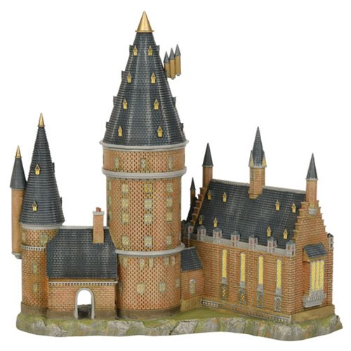 Harry Potter Village Hogwarts Great Hall and Tower Statue