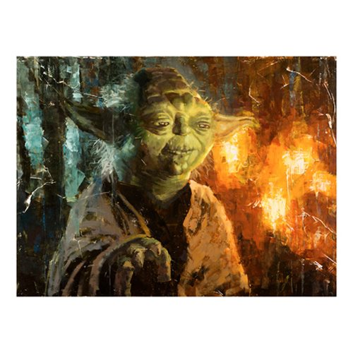 Star Wars Master Yoda by Christopher Clark Canvas Giclee Art Print