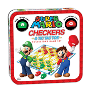Super Mario Edition Checkers and Tic-Tac-Toe Game