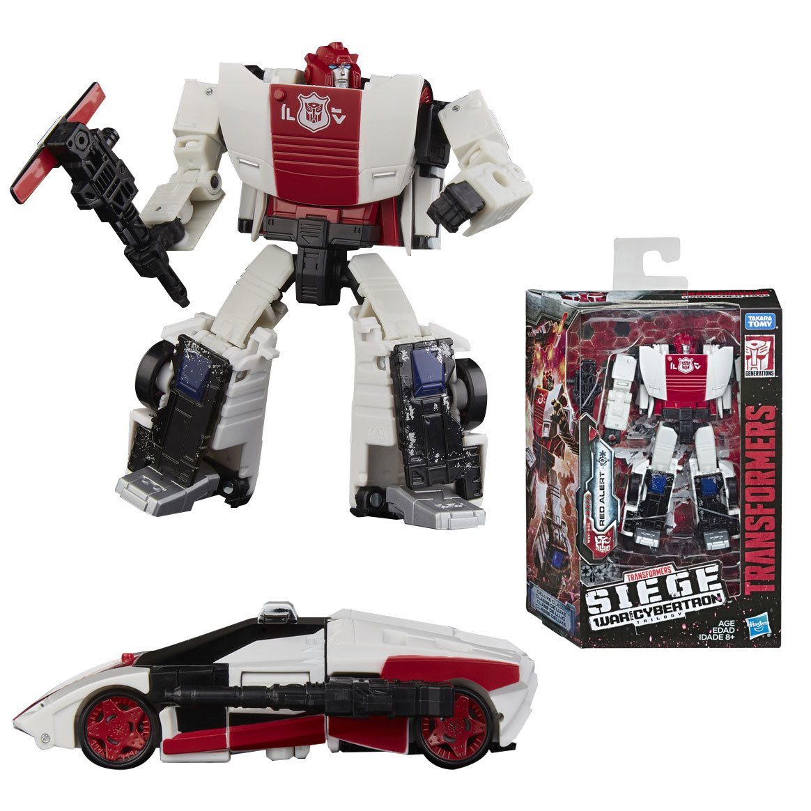 TRANSFORMERS Generations War for Cybertron Siege Deluxe Red Alert ACTION FIGURE
