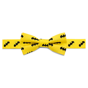 Batman Classic Yellow Boys Silk Bowtie