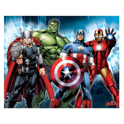 Avengers Group Lineup Canvas Print