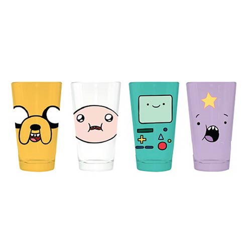 Adventure Time Character Faces Pint Glass 4-Pack, Not Mint