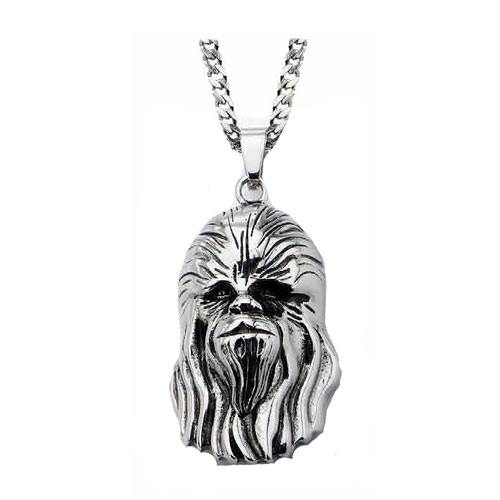 Star Wars Chewbacca Head 3-D Pendant Necklace