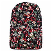 Mulan Mushu Leaves Print Nylon Backpack