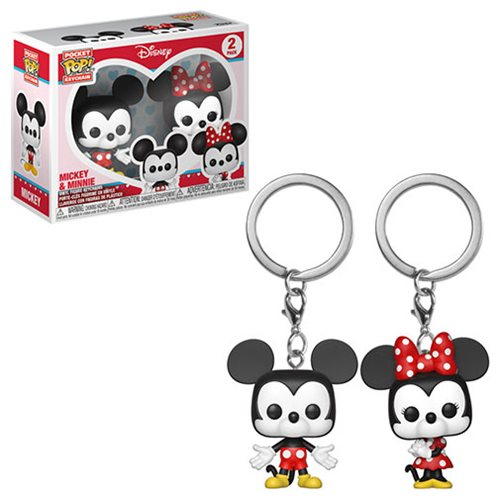Mickey Mouse and Minnie Mouse Pocket Pop! Key Chain 2-Pack