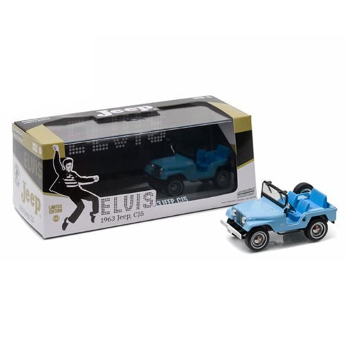 Elvis Presley CJ-5 Sierra Blue Jeep 1:43 Scale Die-Cast Metal Vehicle