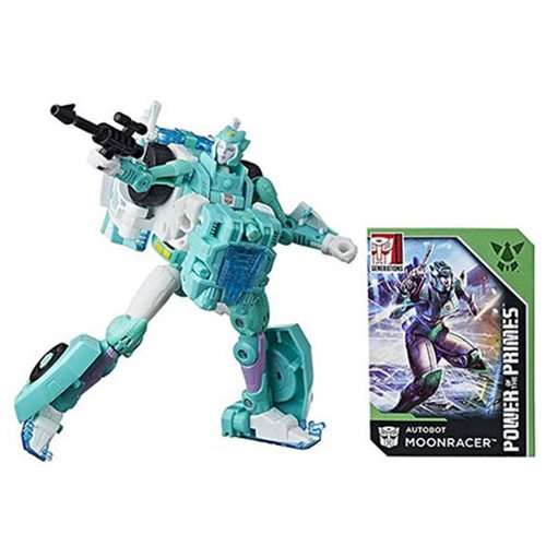 Transformers Generations Power of the Primes Deluxe Class Autobot Moonracer, Not Mint