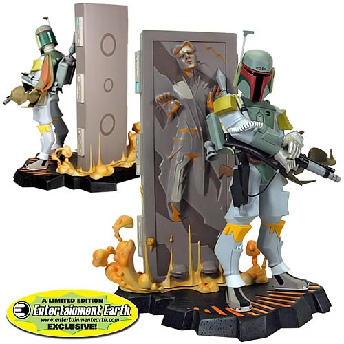 Star Wars Boba Fett and Carbonite Maquette - EE Exclusive