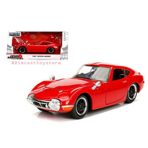 JDM Tuners 1967 Toyota 2000GT Glossy Red 1:24 Scale Die-Cast Metal Vehicle