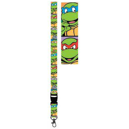 Teenage Mutant Ninja Turtles Faces Lanyard Key Chain