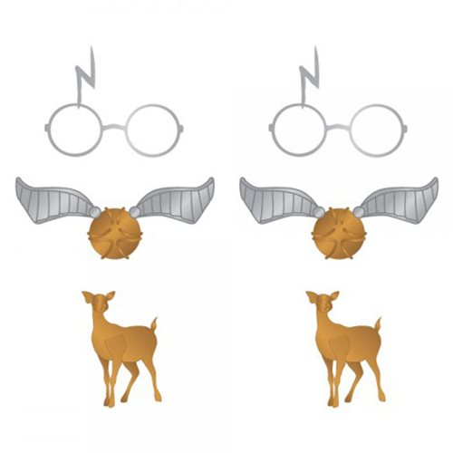 Harry Potter Elements Earrings 3-Pack Set