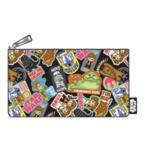 Star Wars Sticker Print Travel Cosmetic Bag