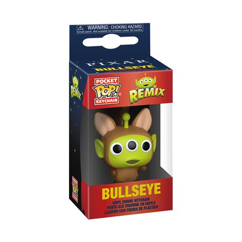 Pixar 25th Anniversary Alien as Bullseye Pocket Pop! Key Chain