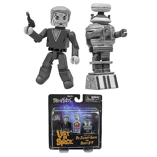 SDCC 2013 Comic Con Exclusive Lost in Space Black /& White Minimate Figures