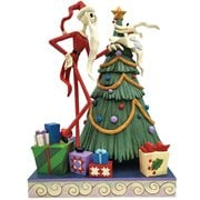 Disney Traditions Nightmare Before Christmas Santa Jack and Zero with Tree Decking the Halls by Jim Shore Statue