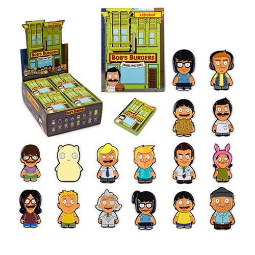 Bob's Burgers Enamel Pin Series Random 4-Pack - Entertainment Earth