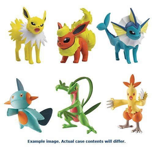 Pokemon Action Pose Action Figure 3-Pack Case