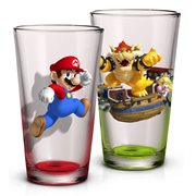 Super Mario Bros. Mario and Bowser 16 Oz. Pint Glass 2-Pack