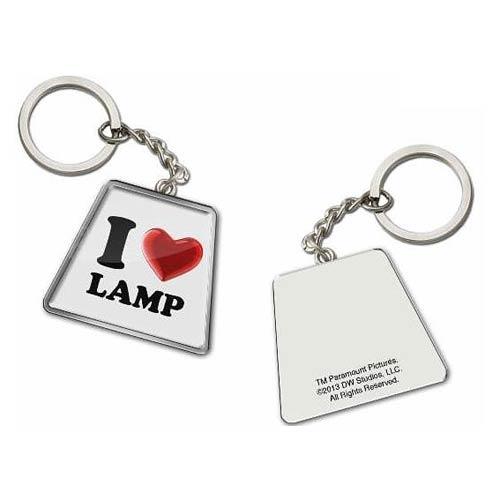Anchorman The Legend of Ron Burgundy I Love (Heart) Lamp Key Chain