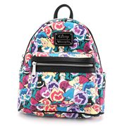 Alice in Wonderland Flowers Print Mini-Backpack