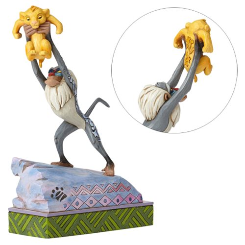 Disney Traditions The Lion King Heir to the Throne Rafiki and Simba Statue