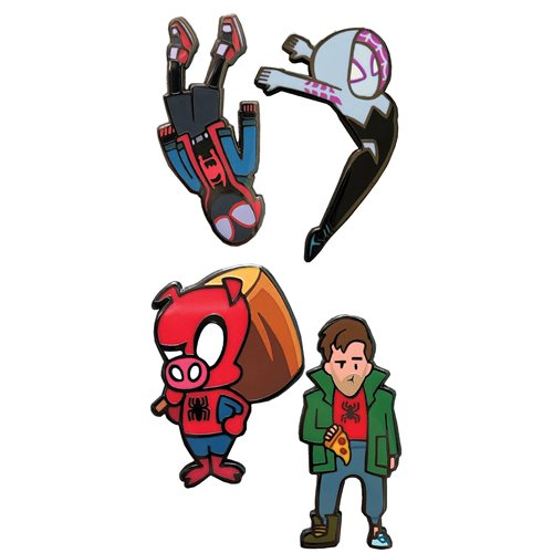 Spider-Man: Into Spider-Verse 4-Piece Enamel Pin Set - FCBD 2021 Previews Exclusive