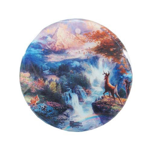 Bambis First Year by Thomas Kinkade StarFire Prints Hanging Glass Print