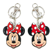 Minnie Mouse Two-Sided Colored Pewter Key Chain
