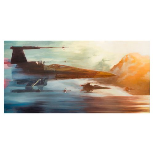 Star Wars: The Force Awakens X-Wings of Resistance by Christopher Clark Canvas Giclee Art Print