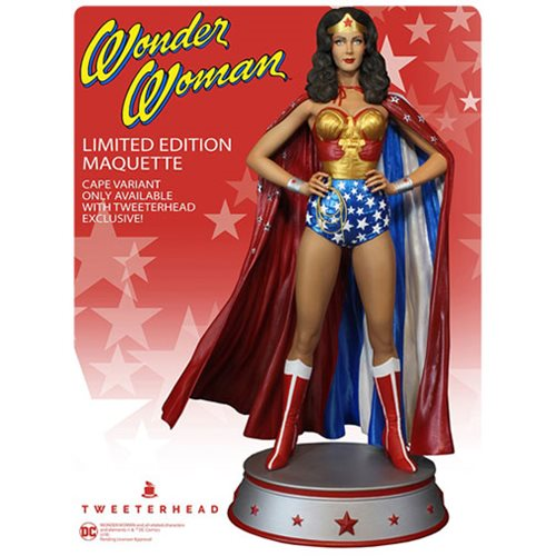 Wonder Woman Lynda Carter & Cape Variant Maquette Statue