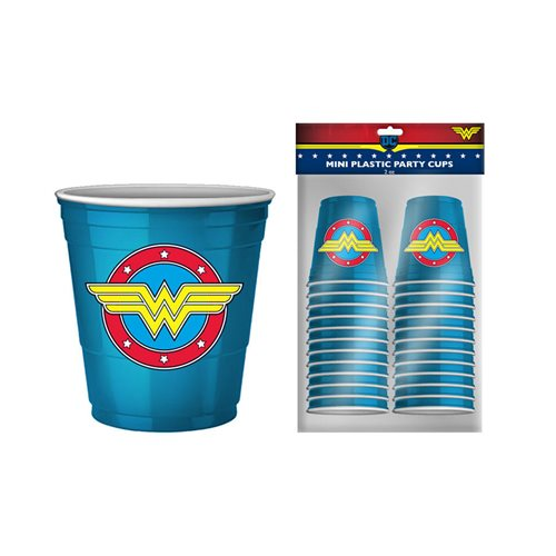 Wonder Women 2 oz. Mini Disposable Party Cups 20-Pack