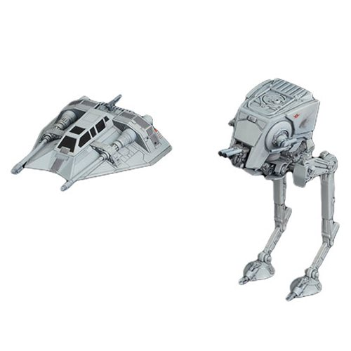 Star Wars AT-ST and Snowspeeder 1:144 Scale Model Kit