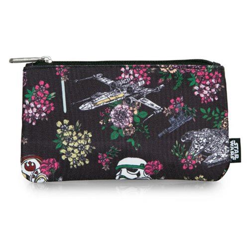 Star Wars Floral Stormtrooper Print Travel Cosmetic Bag