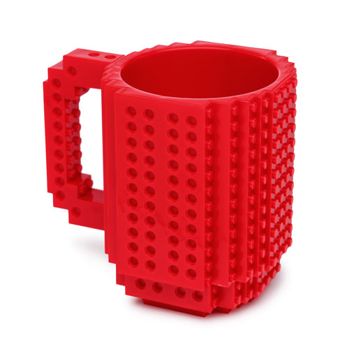 Build on Brick Red Mug
