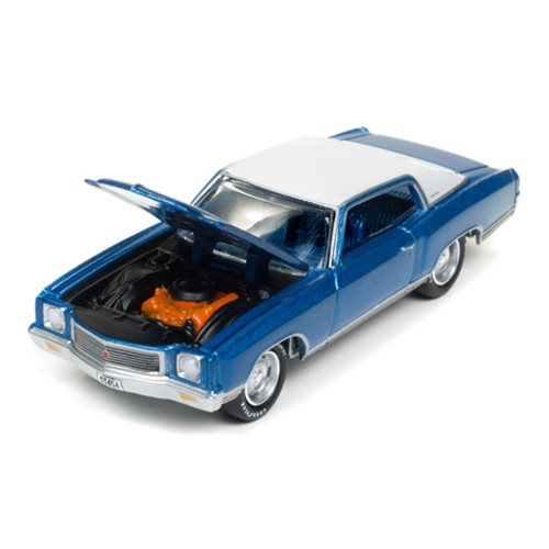 1971 Chevrolet Monte Carlo Mulsanne Blue 1:64 Scale Die-Cast Metal Vehicle
