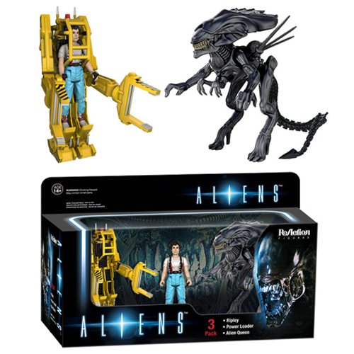 Aliens ReAction 3 3/4-inch Retro Action Figure 3-Pack