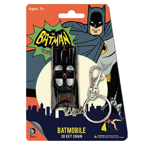 Batman Classic TV Series Batmobile 3-Inch Figural  Key Chain