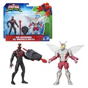 Spider-Man Kid Arachnid vs. Beetle Action Figures, Not Mint