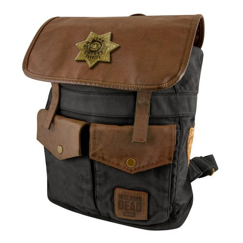 The Walking Dead Sheriff Rick Grimes' Black Backpack