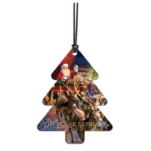 Polar Express Christmas Tree Hanging Acrylic Print