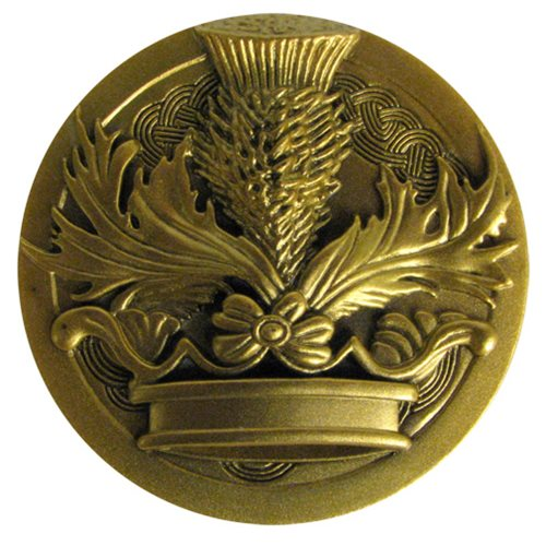 Outlander Crown and Thistle Sculpted Pin